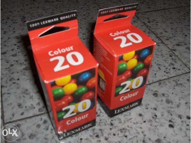 Tinteiros Lexmark 20 Cores (NOVOS) - para impressoras Lexmark e Compaq