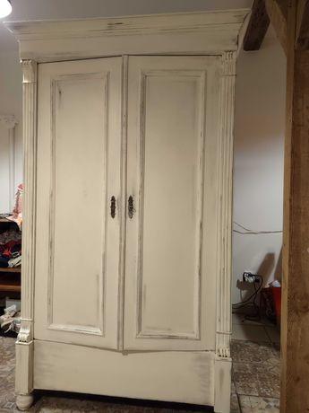 Szafa biała drewniana vintage shabby Chic retro styl prowansalski