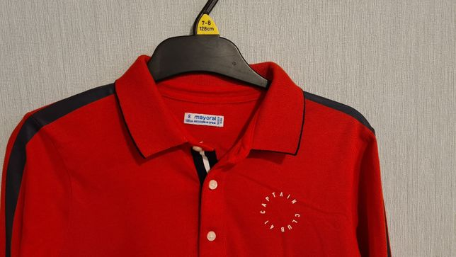 40% taniej POLO czerwone bluzka MAYORAL 128 CM FLAGI 31125 święta