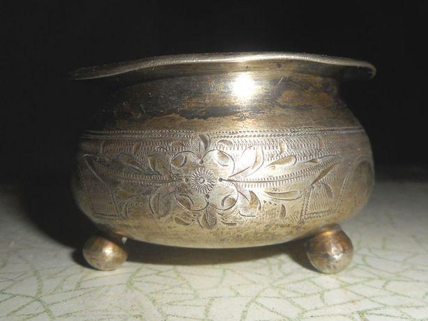 Солонка серебро 84, 37гр, мастер А А 1889г.