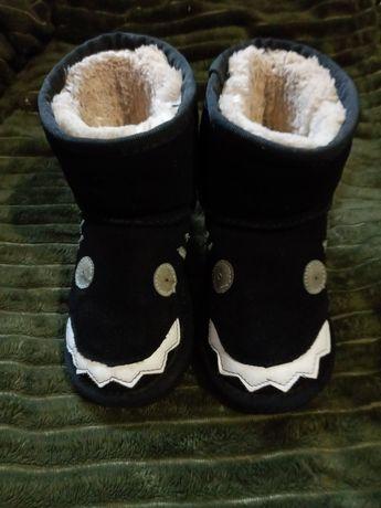 Саплжки детские зимние замшевые натуральные