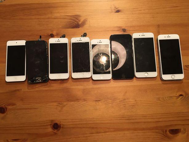 iPhone 5 6 iPod  8 sztuk uszkodzone na części
