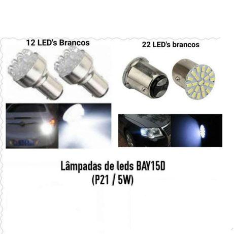 Lâmpada de leds BA15S BAY15D (Substituem P21w , P21/5W)