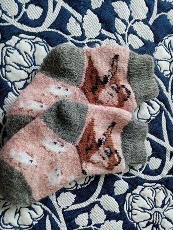 Теплі в'язані носочки