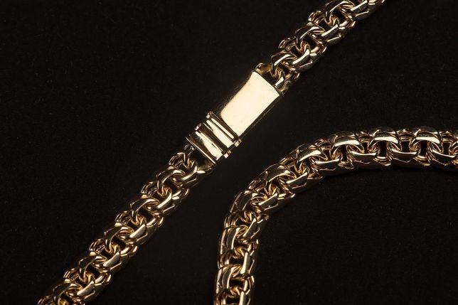 Złoty Łańcuszek Splot Galibardi 585 od Ręki!!!