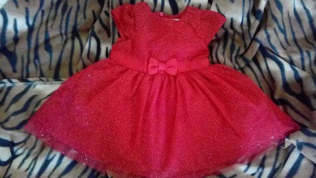 Nowa czerwona sukienka Young Ladies Collection smyk r. 68