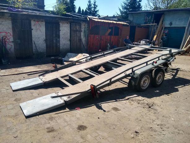 Przyczepa uchylna  ciężarowa mini koparka itp 480 cm