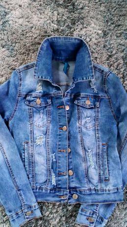 Katana bluza jeansowa przetarcia xs 34 s 36