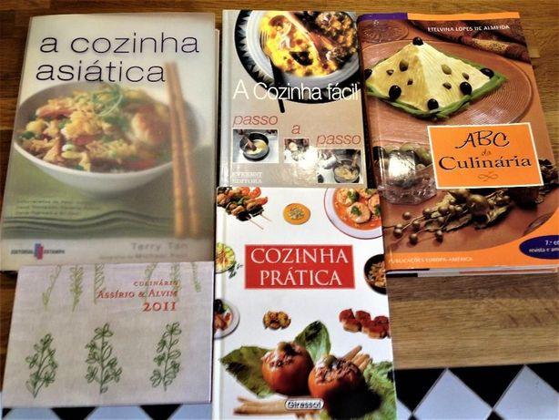 5 livros de culinária.