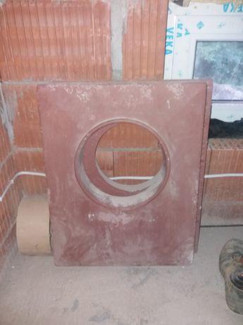 Cena 2szt -Płyta betonowa czapa kominowa z kołnierzem na kominy