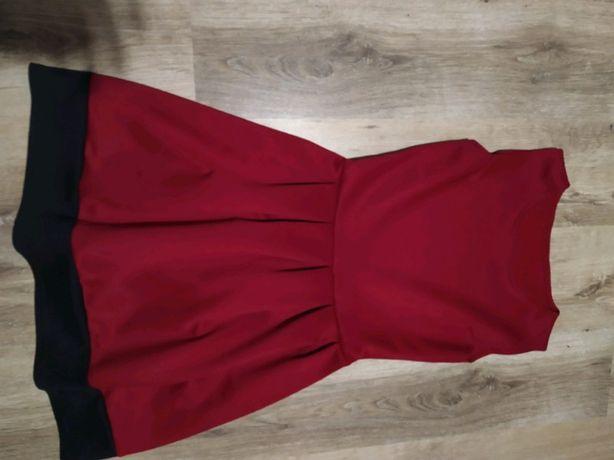 czerwona sukienka S / M
