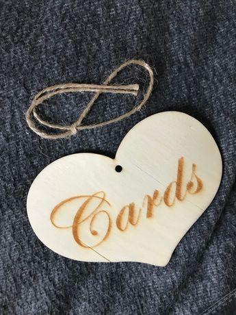 Napis cards na wesele koperty