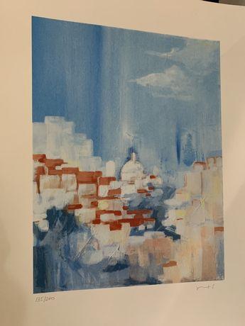 Serigrafia - Telhados de Lisboa