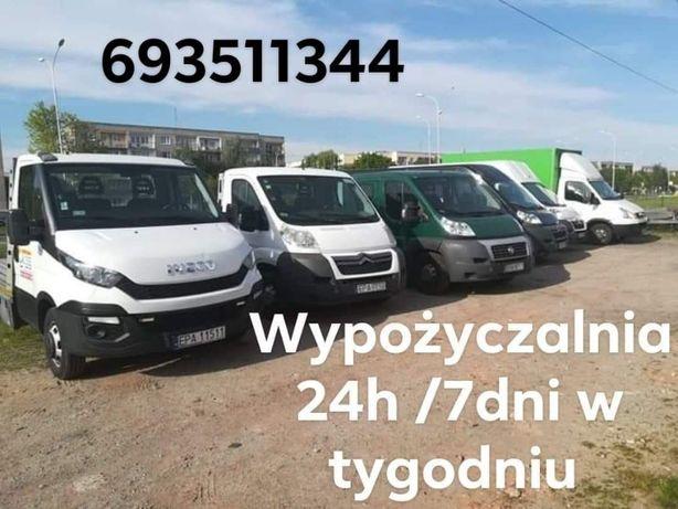 24h Wypożyczania Autolaweta Laweta Przyczepa Bus Pabianice 24h 365 dni