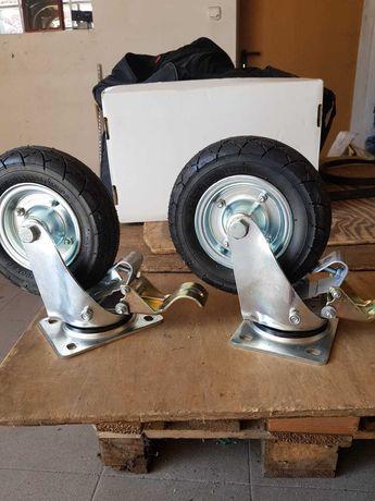 koła do wózka - przemysłowe z hamulcem i bez hamulca