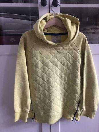 Zara bluza z kapturem + tshirt H&M organic cotton 128
