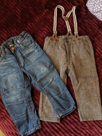 Джинсы брюки на мальчика 6-9 мес