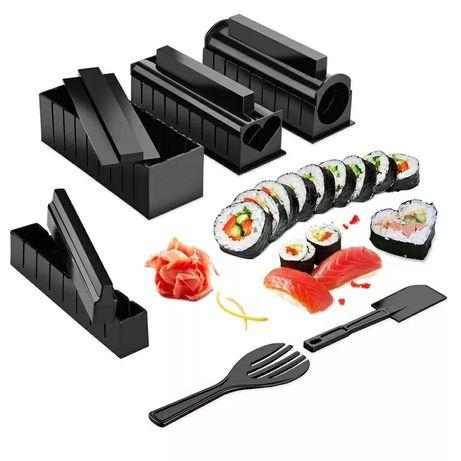 Kit de enrolar sushi japonês 10 fábricas, faça você mesmo, molde para