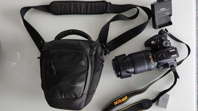 Lustrzanka Nikon D5300 czarny + 18-105VR. Przebieg 6121 zdjęć!