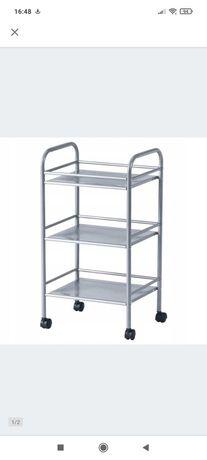 IKEA DRAGGAN wózek barek srebrny nowy 41x32x75 cm