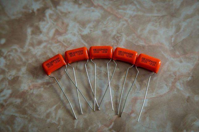 componente electronico 2x Orange drop cap .022uF para guitarras