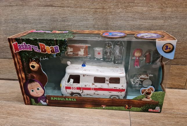 Simba Masza i Niedźwiedź ambulans z figurkami