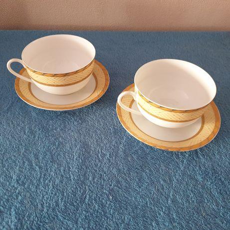 filiżanki z podstawkami Yamasen Fine Porcelain 24 Gold Collection Japa