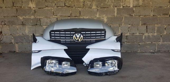 Комплектный перёд VW T6(капот, панель с радиаторами,фары,крылья)