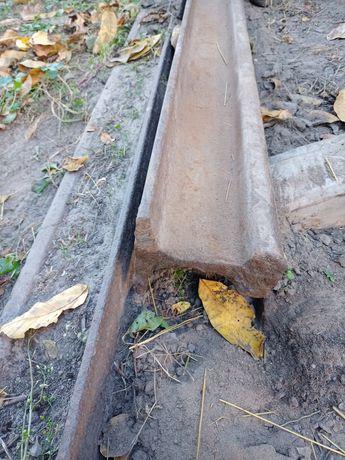 Рельси залізнодорожні 2 шт.по 6 м.