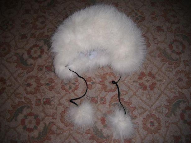 шапка из натурального меха для ребёнка 3-5 лет