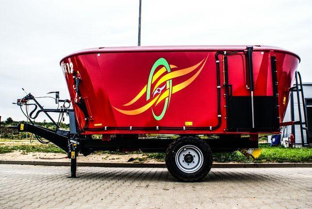 Wóz paszowy paszowóz dwumieszadłowy METAL-TECH WX 12 m3 | Alima