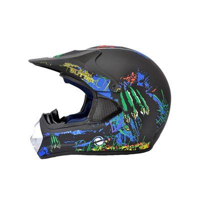 Kask moto crossowy WL-801W Monster Junior mat XL