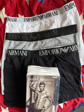 Oryginalne bokserki 3-pack panty Emporio Armani rozm M
