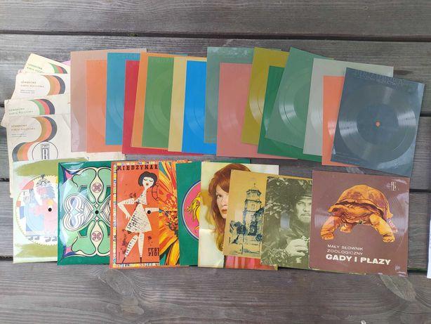 Stare płyty winylowe i pocztówki muzyczne płyta winyl