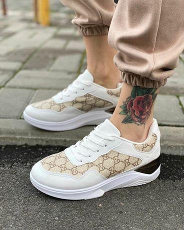 Женские стильные кеды кроссовки Gucci Гуччи