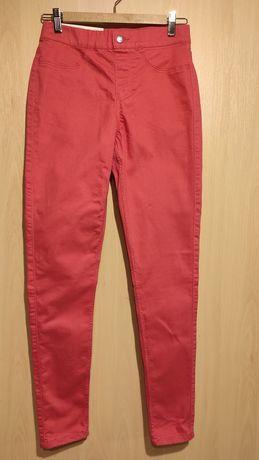Jegginsy Esmara, spodnie skinny, nowe, rozm. M, różowe/brzoskwiniowe