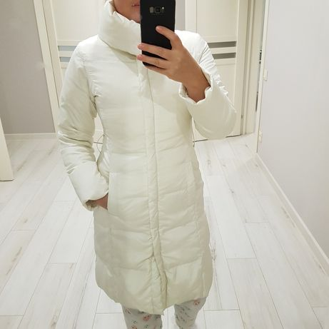 Pinko.Белое пальто,пуховик.пух