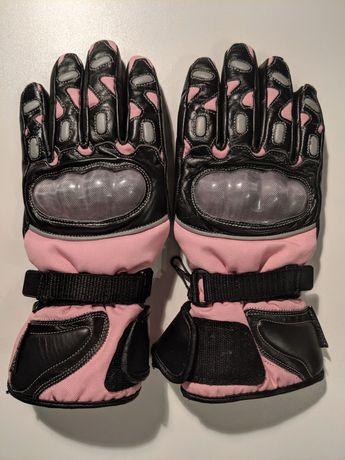 Rękawice motocyklowe damskie skórzane Thinsulate 3M L/XL