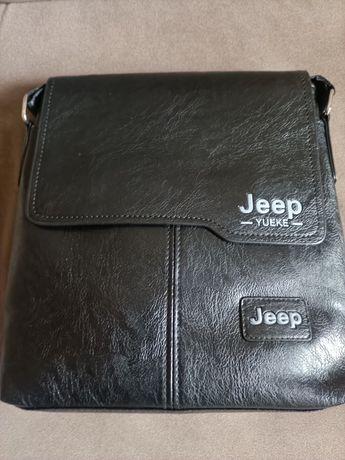 Nowa torba listonoszka męska JEPP ze skóry wymiary 23 cm szerokość 25