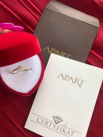 Złoty pierścionek APART z certyfikatem 585