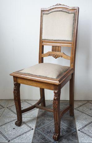 krzesła krzesło secesyjne drewniane stare antyki