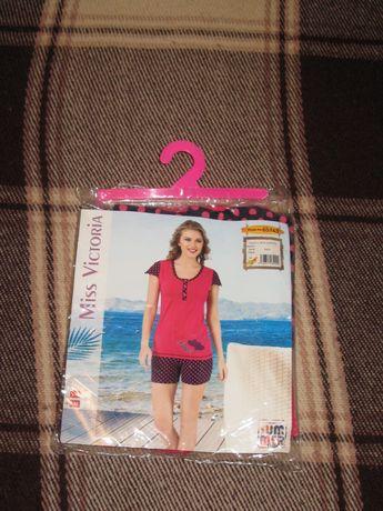 Женская новая х/б пижама, фирма Miss Victoria, размер L-XL