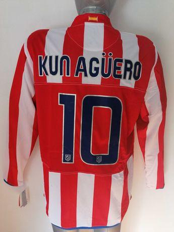 Camisola Kun Aguero Atlético de Madrid 2008/09 XL