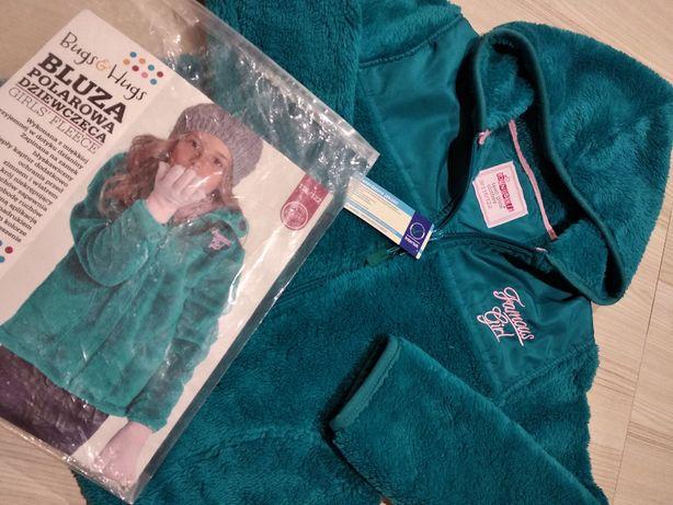 Nowa BLUZA Bluzka Polar Sweter - turkusowa / z metkami, na prezent