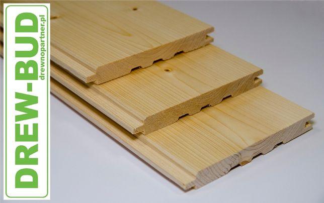 Podbitka drewniana boazeria FAZA 19 x 146 świerk skandynawsk elewacja