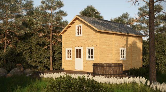 drewniany domek letniskowy - JUSTYNA II 500x700cm 65m2