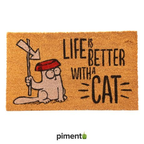 "Tapete ""Life Is Better With a Cat Simon's"""
