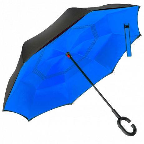 Зонт обратного сложения Up-Brella синий разные цвета