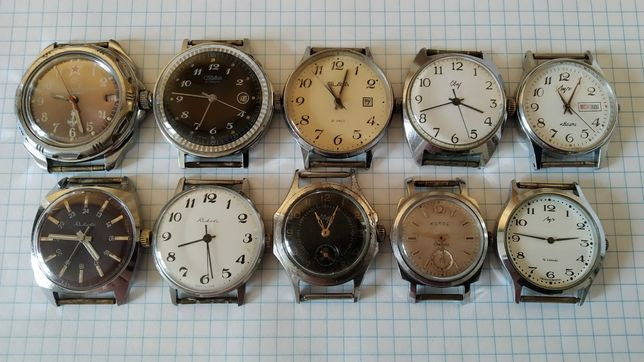 Часы Командирские,Слава,Свет,Ракета,Луч,Колос,на ходу.