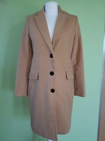 Płaszcz wiosenno jesienny karmel